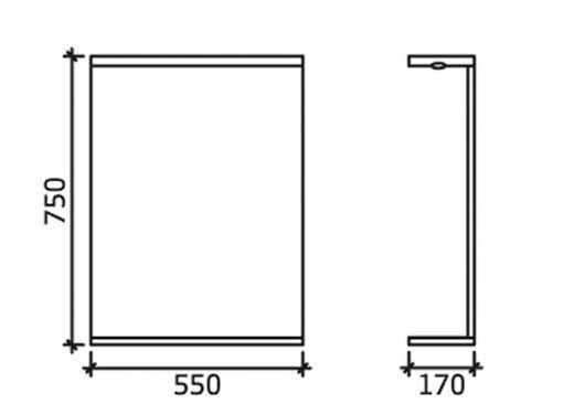 white bathrooms images high gloss white 550mm mirror with shelf 15117